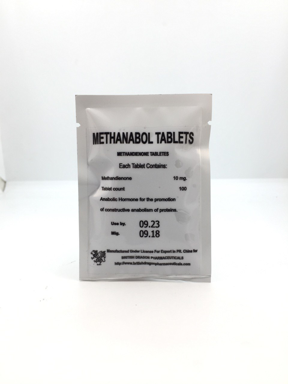 Methandienone Tablets 10мг\таб  - цена за 100таб.